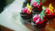 Stock Video Footage of happy birthday cupcakes cup cakes
