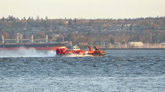 Canadian Coast Guard Hovercraft Stock Footage