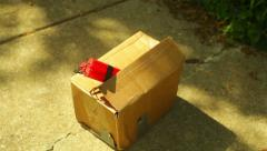 placing a package bomb - stock footage