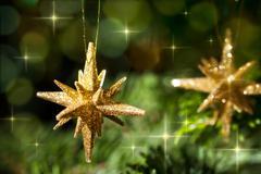 decorative gold star ornament - stock photo