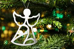 Angel shape christmas ornament Stock Photos