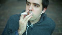 SMOKING like a frenchman Stock Footage