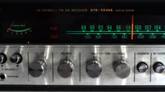 Vintage radio dial Stock Footage