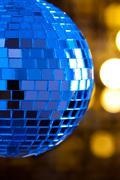 disco mirror sphere - stock photo