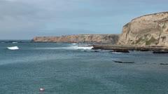 Pacific Ocean California coast shore surf HD 5771 Stock Footage