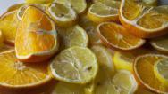 Stock Video Footage of oranges and lemons HD timelase 2