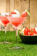 Watermelon martini Stock Photos
