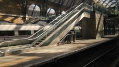 Entering London King's Cross station, London, UK. Stock Footage