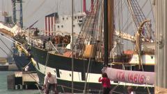 Palinuro sailing ship Stock Footage