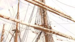 Palinuro sailing ship docked at port Stock Footage