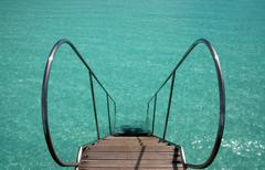 Enter turquoise sea Stock Photos
