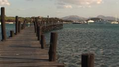 Rustic wooden pier - stock footage