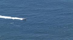 Rib running in the sea Stock Footage