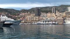 Monaco Montecarlo port - stock footage