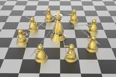 Checkmate in chess competition - stock illustration
