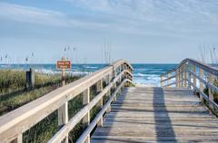 Boardwalk at Canaveral National Seashore Stock Photos