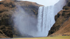 Skogafoss Waterfall, Skogar, Iceland, - stock footage