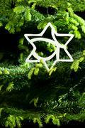 Star shape christmas ornament Stock Photos