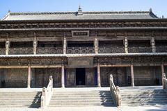 Great Buddhist Temple in zhangye Stock Photos
