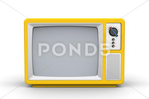 Stock Illustration of Vintage television