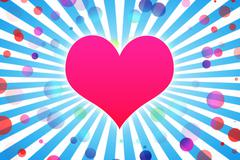 Heart abstract background - stock illustration