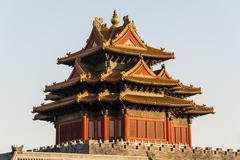 Watchtower of Forbidden City - stock photo