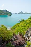 island and sea in the gulf of thailand. - stock photo