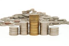 Thai coins - stock photo
