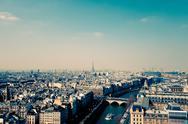 Retro style paris france Stock Photos