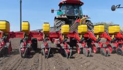 Agricultural machinery, sowing - stock footage