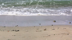 Small wave in slow motion Stock Footage