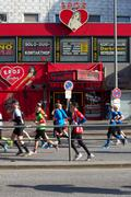 Stock Photo of Marathoners Pass through St. Pauli