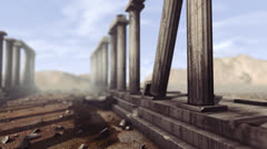 Greek pillars with depth-of-field Stock Footage