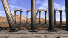 Tracking shot of Greek pillars Stock Footage