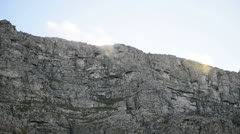 Clouds over Table mountain - stock footage