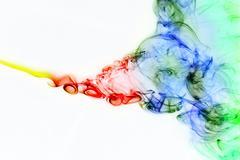Colored smoke curves Stock Photos