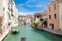 kanal in venedig - stock photo