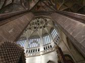 Stock Photo of pointed vault of saint barbara church