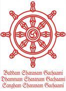 Buddha Dharmacakra wheel Stock Illustration