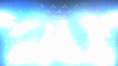 Concert lights flood animation, full stage lights. Stock Footage