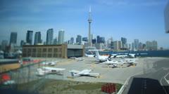 Toronto Airport Timelapse - stock footage