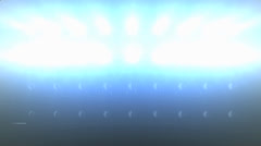 Concert lights flood animation, static camera. - stock footage