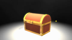 Bonus box, prize, mystery, game, toy, magic. Stock Footage