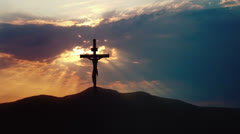 Holy Cross on Golgotha - stock footage