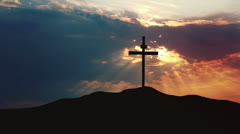 Holy Cross on a Hill Stock Footage