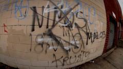 Fish Eye Graffiti Shots in Brooklyn - stock footage