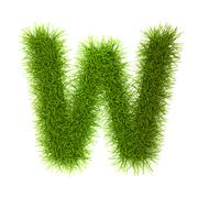 Stock Illustration of Grass style Latin Alphabet Letters and Numbers
