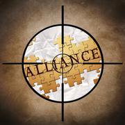Stock Illustration of alliance target