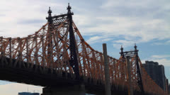 NYC Queensboro Bridge at Day Stock Footage