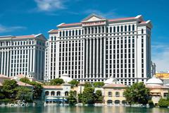 caesars palace hotel on the las vegas strip in nevada - stock photo